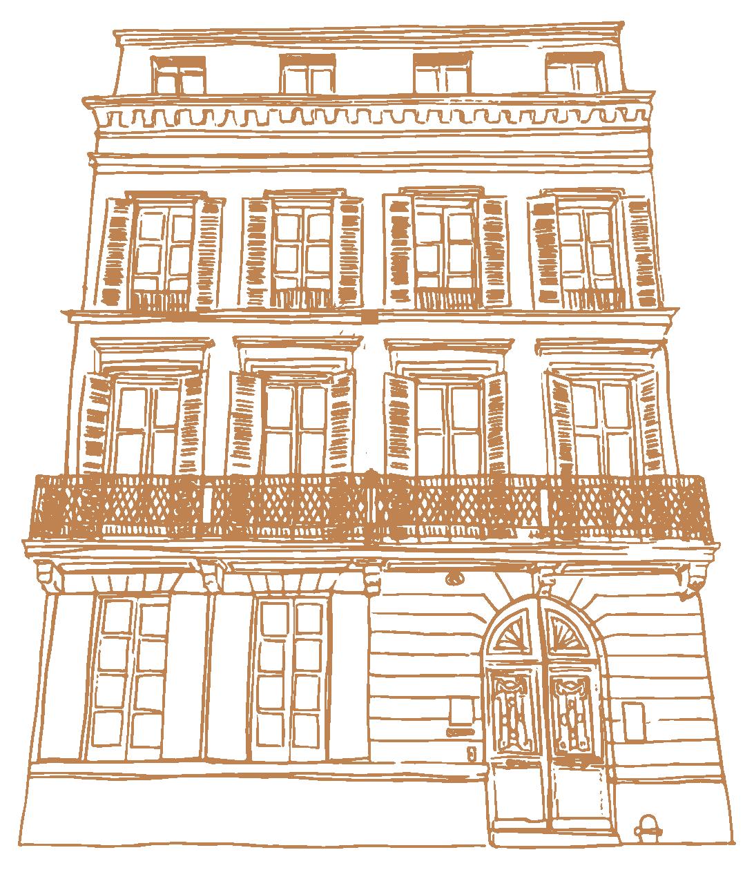 Facade hôtel des Quinconces