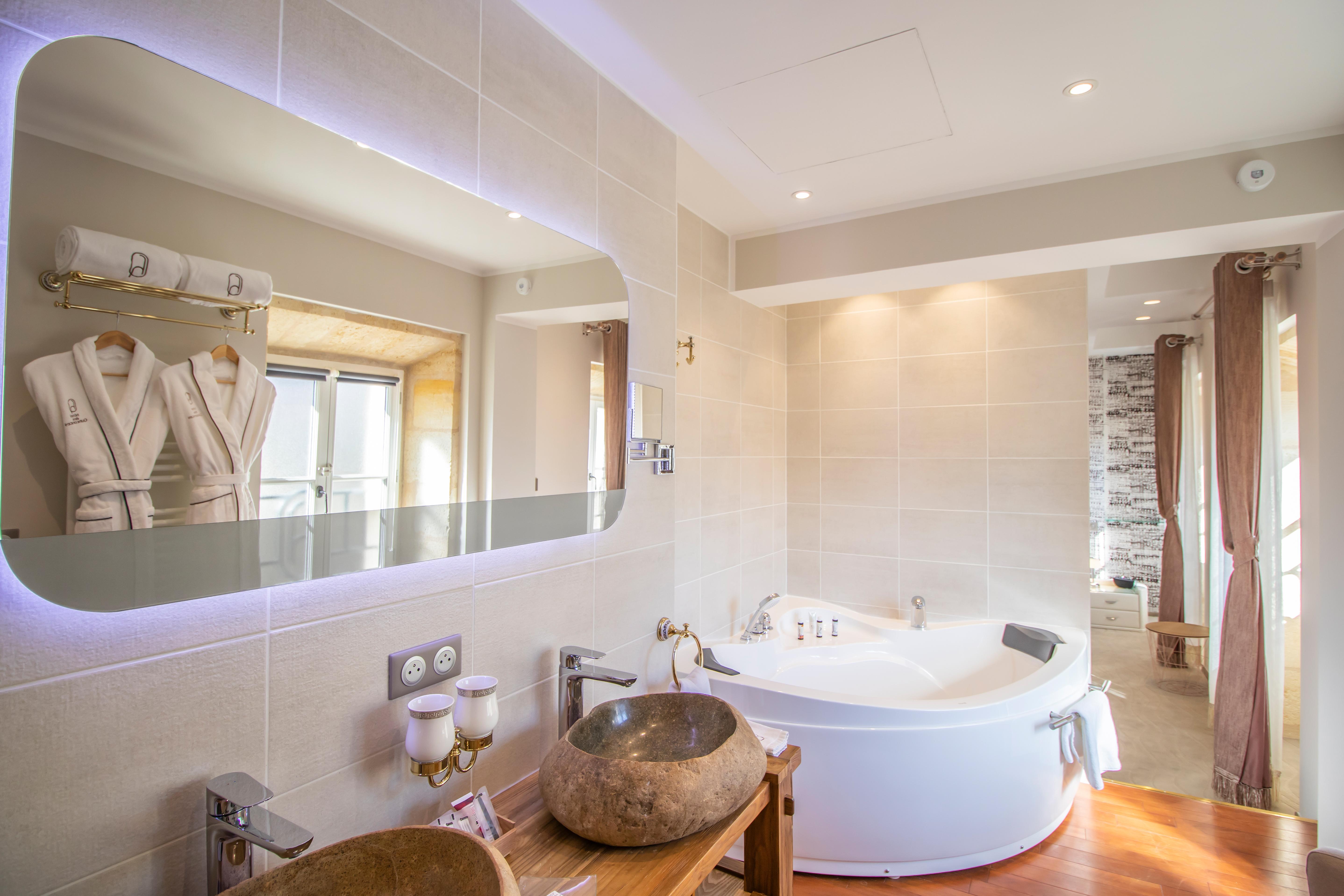 salle de bain Grenadille hôtel des Quinconces