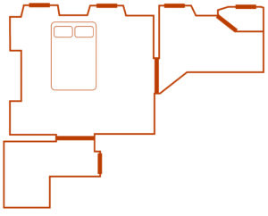 plan chambre noyer