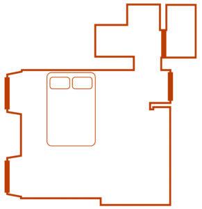 plan chambre chene