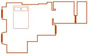 plan chambre marronnier