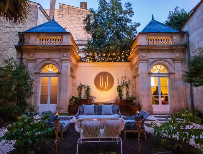 Private garden hotel des Quinconces